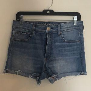 AEO Hi-Rise Shortie Denim Shorts